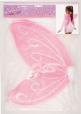 Childrens' Pink Glittery Wings In Pink